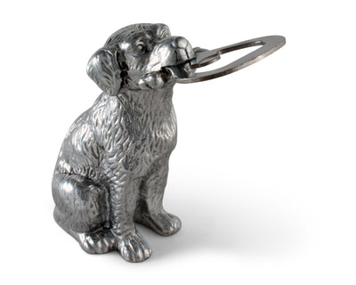 Arthur Court Designs Aluminum Labrador Hunting Dog Bottle Opener Forged Stainless Steel  Head 4.5 inches Tall