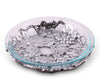 Arthur Court Aluminum Metal Grape Pattern Trivet / Glass Pie Dish Protect your Kitchen and Dining table 9 inch
