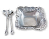 Arthur Court Designs Aluminum Metal Elephant Salad / Fruit Serving Bowl  and Food Servers Set 3- Piece