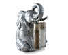 Arthur Court Designs Aluminum Elephant Stand for Glass Hanging Salt and Pepper