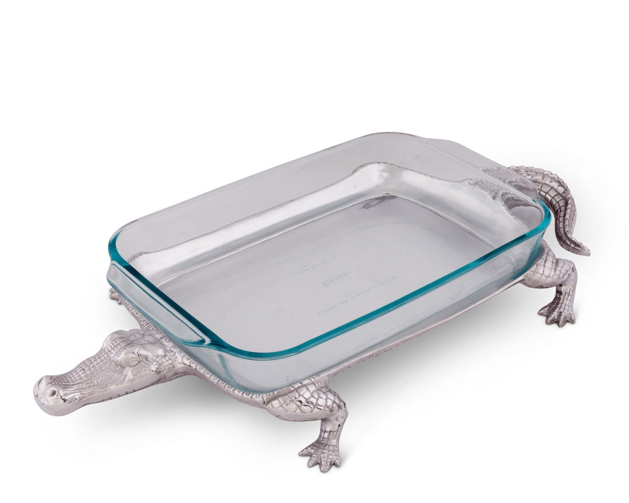 Pyrex Holder 3qt - Alligator  Arthur Court