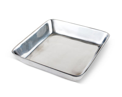"Arthur Court Classic Napkin Holder Box Heavy Cast Aluminum Cocktail Size | Perfect for all sizes of Small Bar Paper Square Napkins 6"" x 6"""
