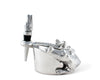 "Arthur Court Designs Aluminum Alligator Wine Coaster and Bottle Stopper Set  4"" diameter"