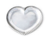 "Arthur Court Designs Aluminum Engravable Beaded Heart Tray 8""x7.25"""
