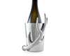 "Arthur Court Designs Aluminum Upright Wine Bottle Holder Antler 8"" Tall"