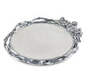 Grape Open Vine Round Tray Large