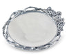 "Arthur Court Designs Aluminum Grape Open Vine Round 17"" Tray Large"