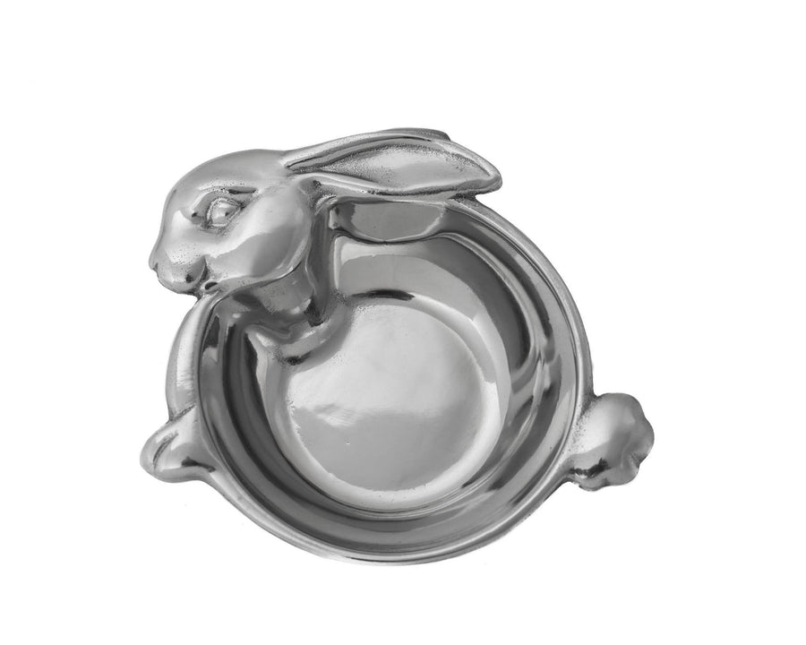 "Arthur Court Designs Aluminum 5.25"" Baby Bunny Keepsake Bowl"