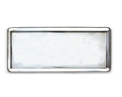 "Arthur Court Designs Aluminum Engravable Oblong Tray 16"" x 7"""