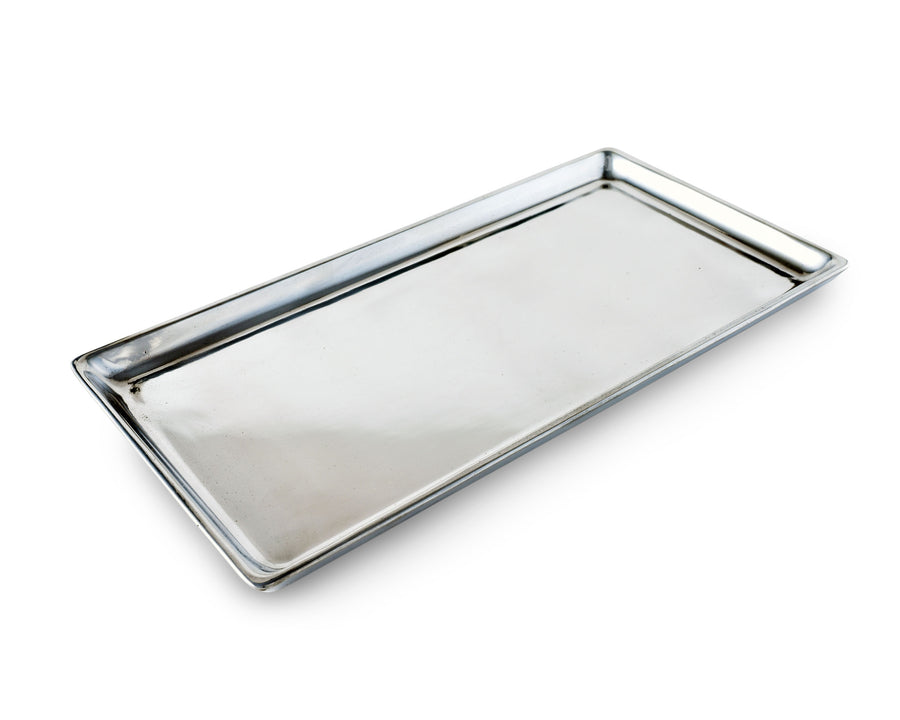 Arthur Court Aluminum Metal Engravable Serving Tray / Platter 6 Inches x 12 Inches