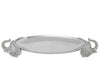 "Arthur Court Designs Aluminum Elephant 24"" Centerpiece Tray"