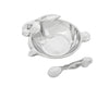 "Arthur Court Designs Aluminum Bowl 5.25"" Diameter Baby Bunny Keepsake Bowl Spoon"