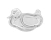"Arthur Court Designs Aluminum 8.5"" Baby Duck Keepsake Divided Plate"