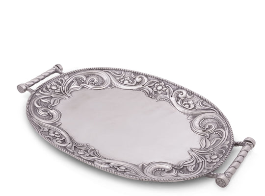 Arthur Court Aluminum Western Pattern Serving Tray