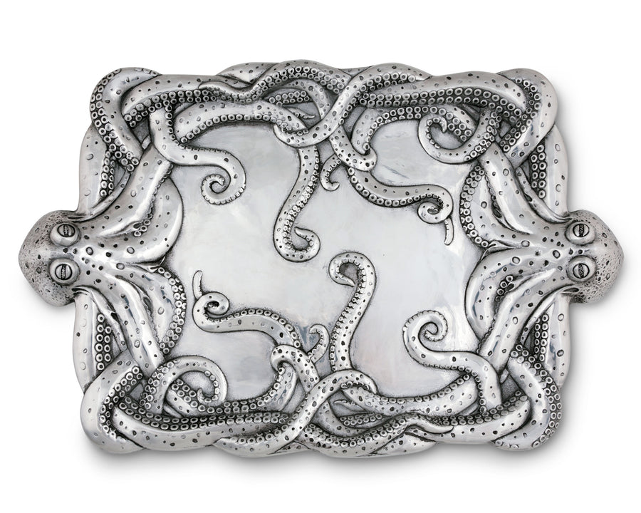 "Arthur Court Octopus Centerpiece Serving Tray - Ocean Theme 24"" Long"