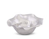 "Arthur Court Carmel Pattern Aluminum Dip / Candy / Snack / Serving Bowl - Carmel Pattern Modern Free Form 8"" Diameter 2"" Tall"