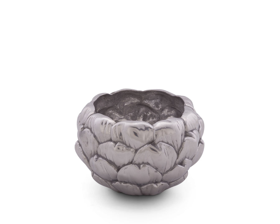 Arthur Court Artichoke Dip / Sauce Heavy Metal Bowl Sand casted Aluminum Perfect for Outdoor or Indoor Entertaining
