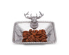 Arthur Court Aluminum Nut / Candy / Snack Bowl Dish with Elk Head; Lodge Style 6.5 Inch