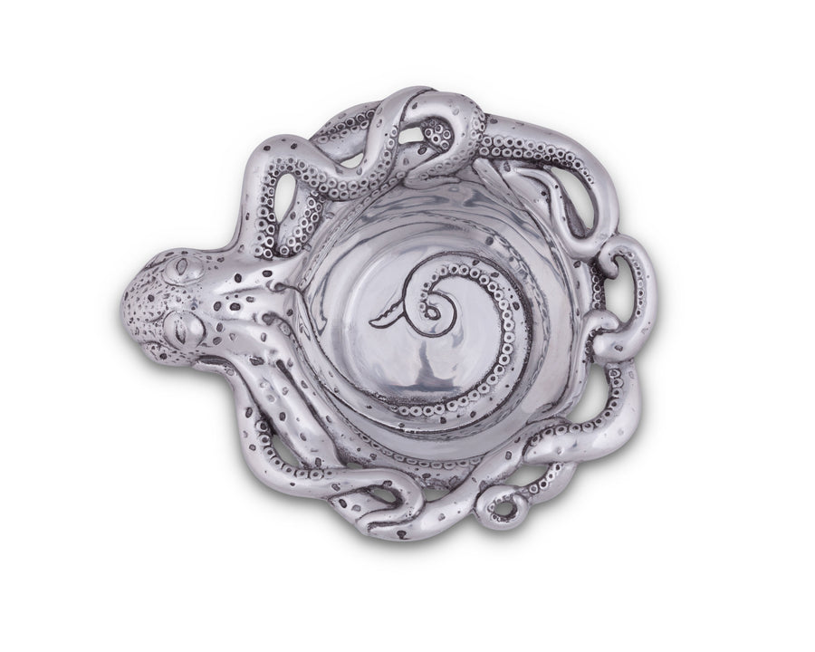 Arthur Court Metal Aluminum Octopus Wine Coaster - Protect your table with Ocean Theme Style