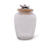 Olive Glass Canister