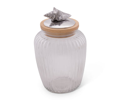 Shell Glass Canister