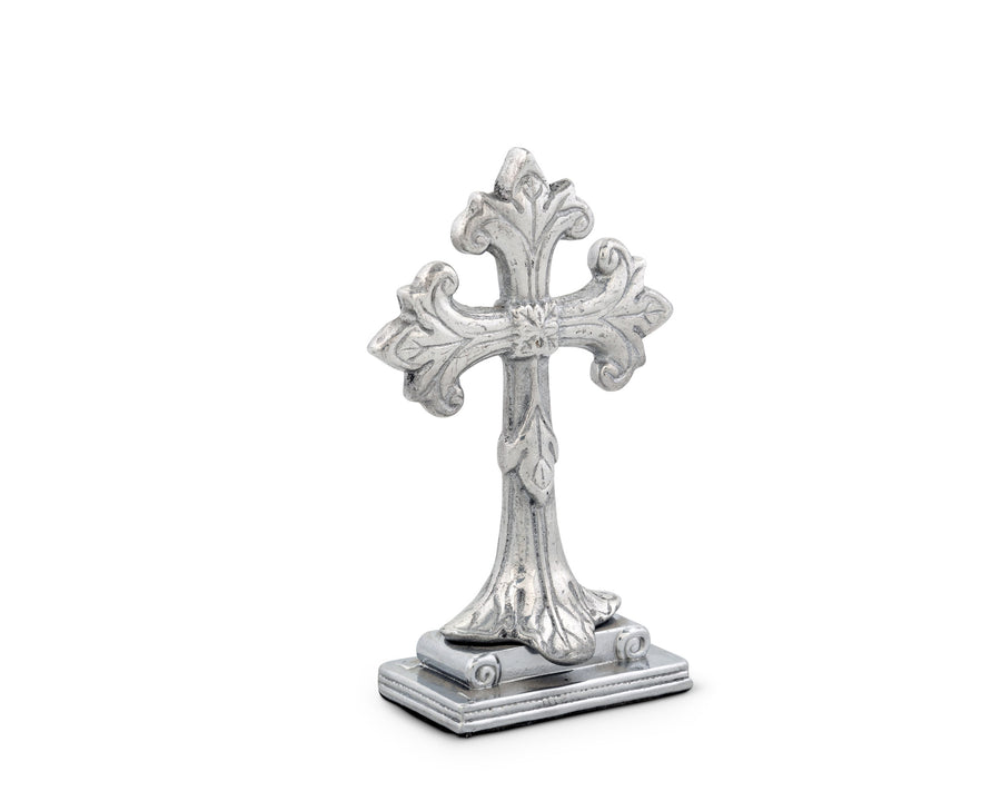 "Arthur Court Designs Aluminum 5"" Standing Classical Cross"