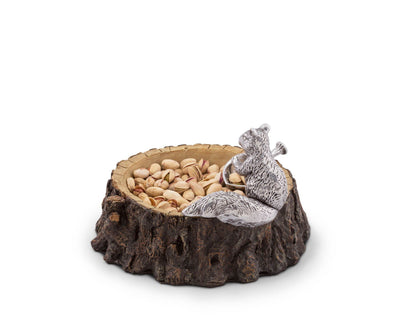 Standing Squirrel Nut Bowl