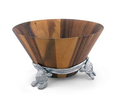 Sea Turtle Wood Salad Bowl