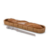 Arthur Court Designs Bamboo Baguette Board with Grape Pattern Bread Cake Knife