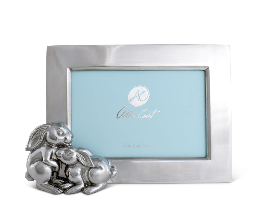 Arthur Court Designs Aluminum Baby Bunny 4x6 Photo Frame