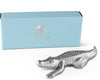 Arthur Court Designs Aluminum Alligator Large Figurine 6 Inches Long