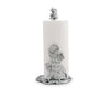 "Arthur Court Designs Elephant Decorative Counter Top Paper Towel Holder - Aluminum Metal 14.5"" Standing Tall"
