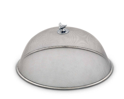 "Arthur Court Stainless Steel Mesh Picnic Food Cover Protectors For Bugs, Parties Picnics, BBQs  / Cast Aluminum Bee Knob 5"" Tall  x 10.5"" Diameter"
