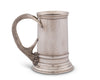 "Vagabond House Solid Pewter English Beer Mug / Tankard with Pewter Antler Handle - 5.25"" Tall"