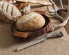 Round Bread Board with Antler Knife
