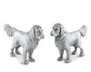 "Vagabond House Pewter Retriever Dog Salt and Pepper 5"" Long x 3"" Tall"