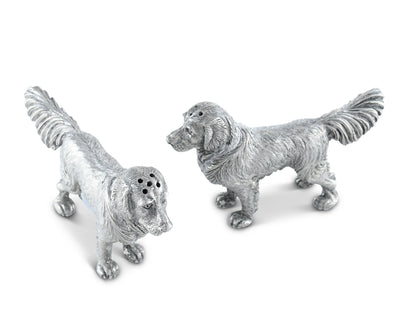 Pewter Retriever Salt and Pepper