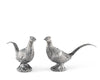 "Vagabond House Pewter Pheasants Salt and Pepper Shaker Set 2"" Tall"