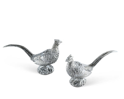 Pewter Pheasants Salt & Pepper Set
