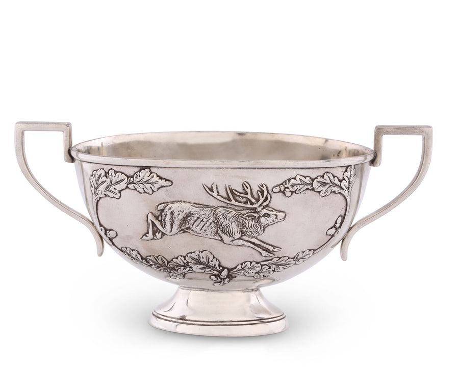 "Vagabond House Noble Elk Pewter Gravy Sauce Boat / Bowl 11.25"" Wide x 6"" Tall"