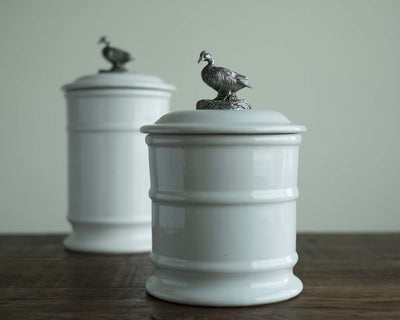 Stoneware Canister - Short - Duck  Vagabond House