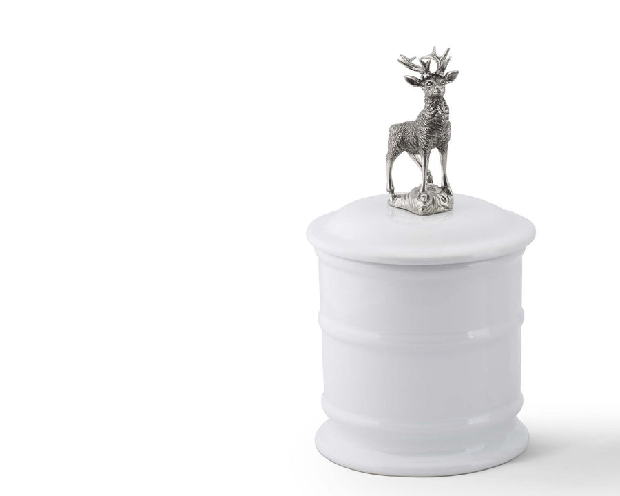 Stoneware Canister - Tall Elk  Vagabond House