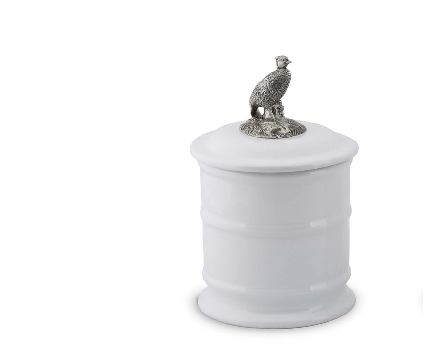Stoneware Canister - Tall - Pheasant  Vagabond House
