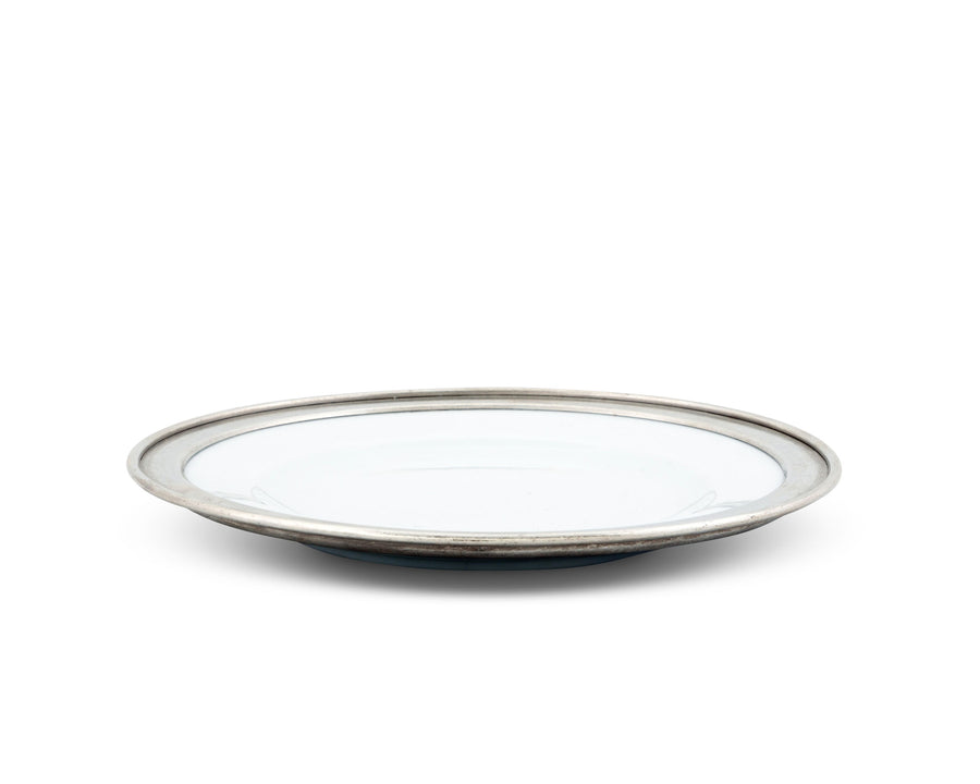 Vagabond House Classic Pewter Rim Salad Plate; Tribeca Collection 8.5 Inches Diameter