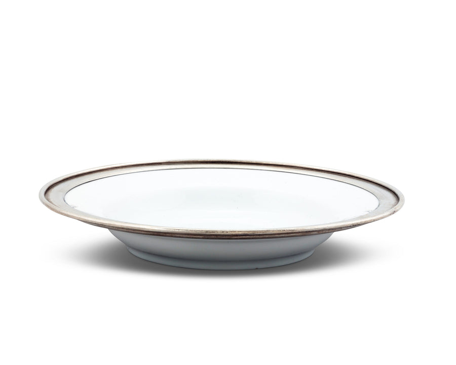 Vagabond House Classic Pewter Rim Soup Bowl; Tribeca Collection; 9 Inches Diameter 6 Ounces Volume