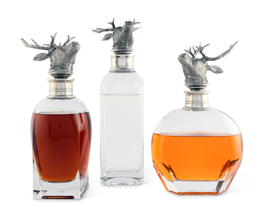 Liquor Decanter - Elk Short  Vagabond House