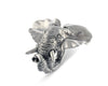 "Vagabond House Pewter Elephant Napkin Ring 3"" Wide x 2.5""Long x 2"" Tall  (Sold as Single Ring)  Artisan Crafted Designer Rings"