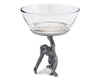 "Vagabond House Pewter Standing Monkey Dip Bowl 7"" Tall"