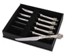 "Vagabond House Pewter Medici Steak Knife Set of 6 7.5"" Long"