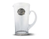 Vagabond House Large Glass Pitcher with Pewter Medallion